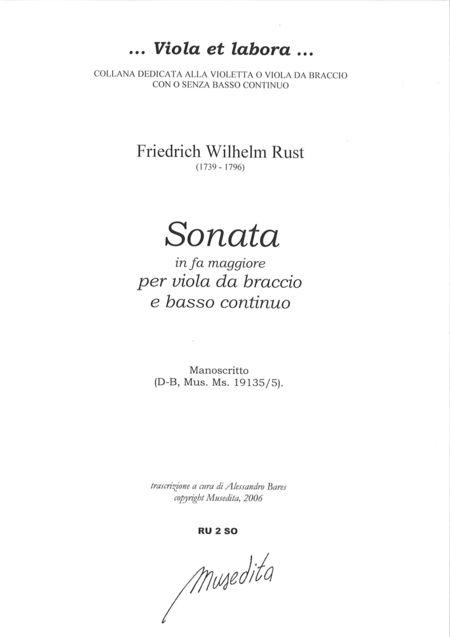 Viola Sonata in F Major (Manuscript, D-B)