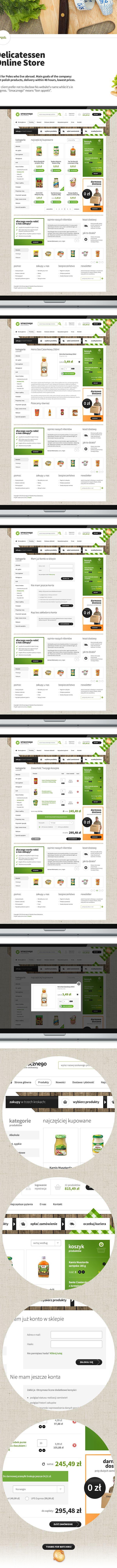 Delicatessen - Online Store by Mateusz Kolebuk, via Behance
