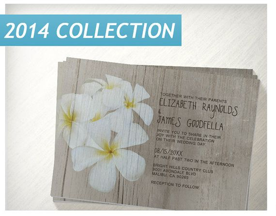 Rustic Plumeria Wedding Invitations