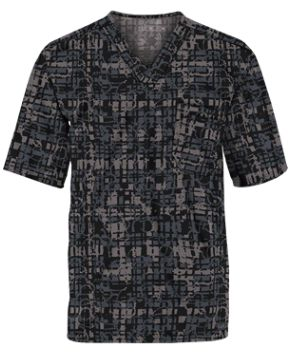 UA Men's Abstract Plaid Black Print Top Tailored just for men; this v-neck scrub top features a double left chest pocket with pen slot to hold your belongings. Style # UA703ABP #UniformAdvantage #UAscrubs #ADayInScrubs #MensScrubs #PrintScrubs #GrayScrubs #BlackScrubs #NursingScrubs #Scrubs