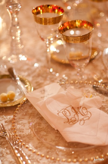 Bella Flora Table setting