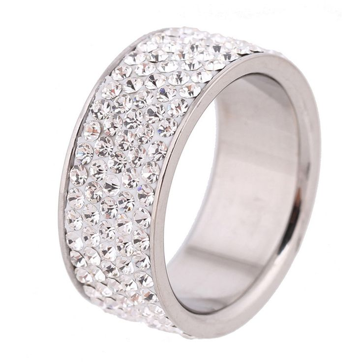 6/7/8/9# Min. Order $10 White Lines Crystal Jewelry Free Shipping Wholesale Fashion Stainless Steel Ring //Price: $ 11.99 & FREE Shipping //     #jewelry #jewels #jewel #fashion #gems #gem #gemstone #bling #stones   #stone #trendy #accessories #love #crystals #beautiful #ootd #style #accessory   #stylish #cute #fashionjewelry  #bracelets #bracelet #armcandy #armswag #wristgame #pretty #love #beautiful   #braceletstacks #earrings #earring