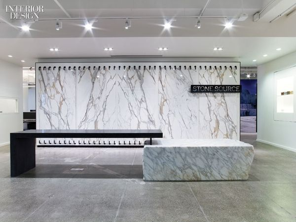 the story of stone stone source showroom by gensler reception counter ...