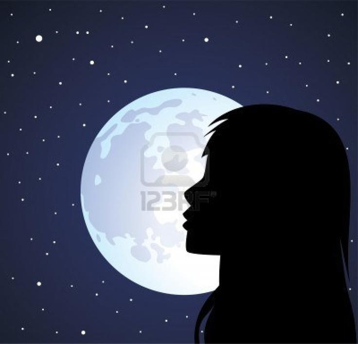 girl n moon