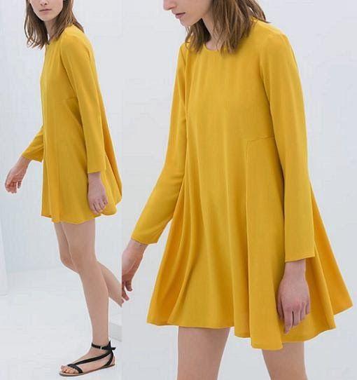Zara Zara Vestido Amarillo Amarillo Limon Zara Amarillo Vestido Limon Vestido Limon sQtdhr