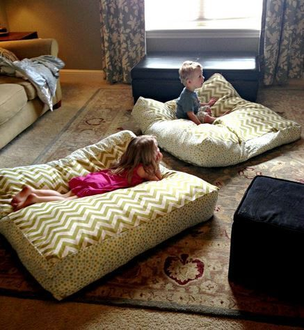 DIY Giant Floor Pillows, could also be a dog bed!! Must make one of these