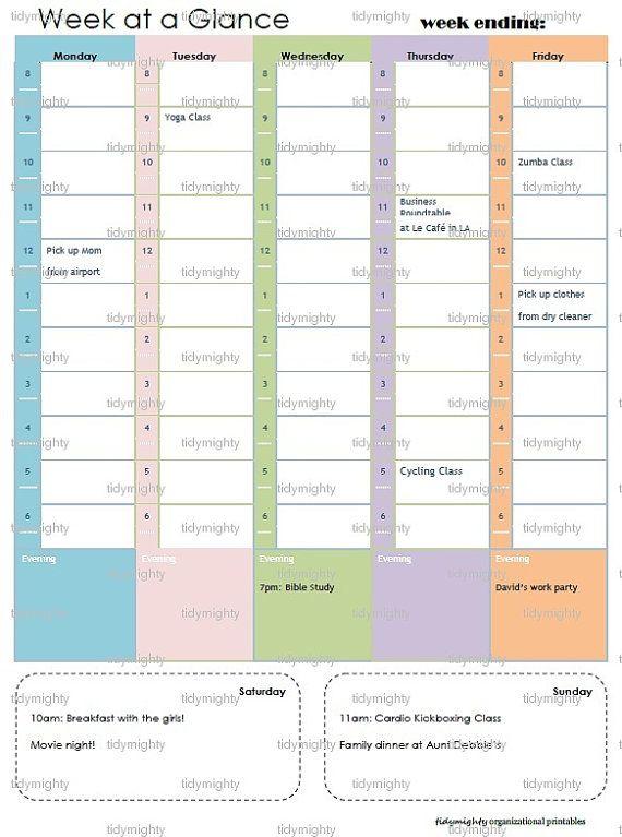 72 best weekly PLANNER images on Pinterest Weekly planner