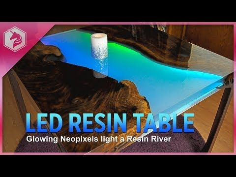 New Guide: Make a Glowing LED Resin River Table