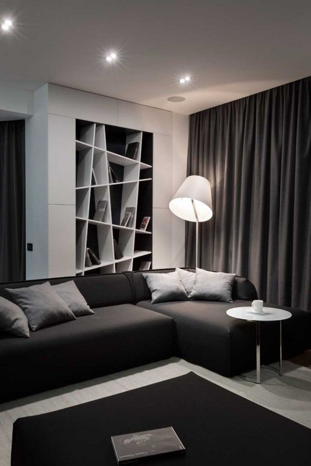Denis Rakaev has recently completed the interior design of a contemporary penthouse apartment in Kiev, Ukraine.