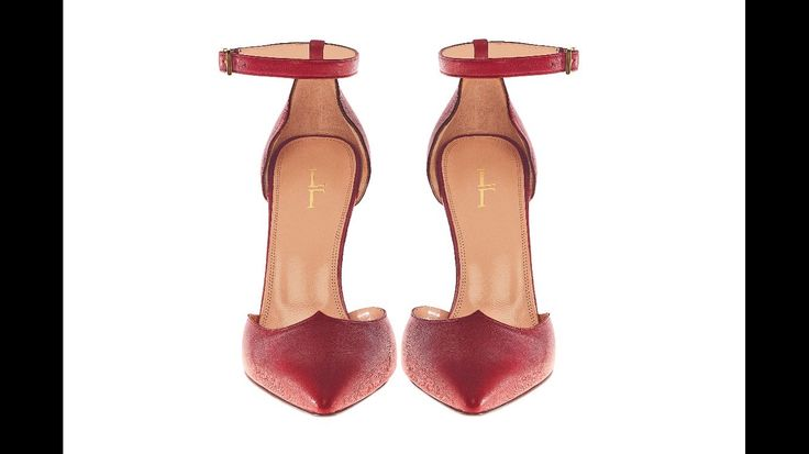 Lamperti Milano Salvation heels burgundy leather