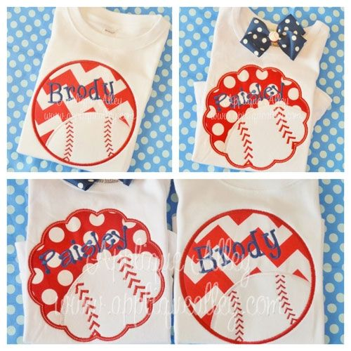BASEBALLL SCALLOP from applique alley