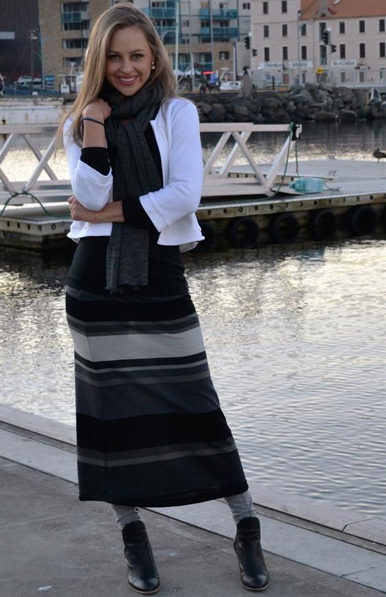 Smitten Merino Maxi skirt - 100% merino wool skirt made in tasmania