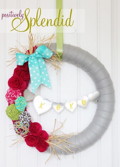 /Valentinewreath, Pools Noodles, Crafts Ideas, Splendid Crafts, Positive Splendid, Home Decor, Valentine Wreaths, Spring Wreaths, Diy