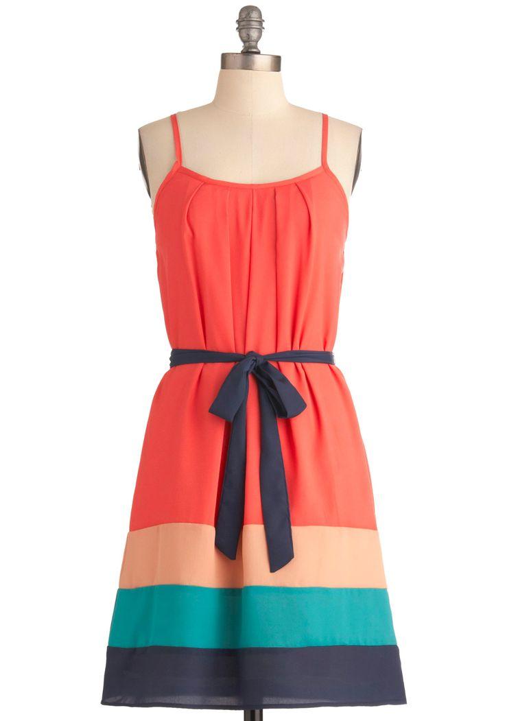 Tropical Sunset Dress: Summer Dresses, Colors Combos, Summer Day, Sunsets Dresses, Retro Vintage Dresses, Blue Colors, Sundresses, Tropical Sunsets, Dresses For Success