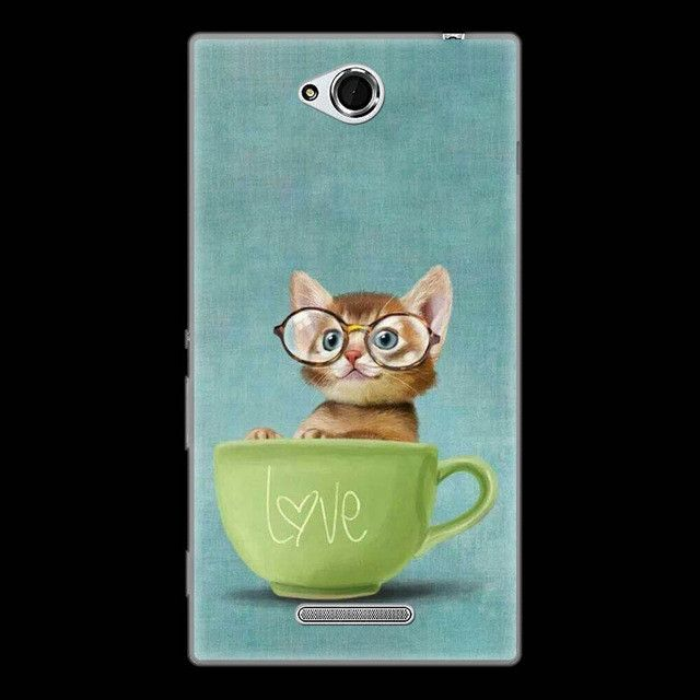 CaseRiver Soft Silicone Back Cover For Sony Xperia C CN3 C2304 C2305 S39 S39H Phone Case, Case For Sony C 2304 2305 Case Cover