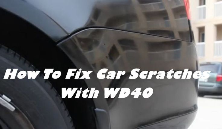 Easy Fix Car Scratches with WD-40 - My Honeys Place
