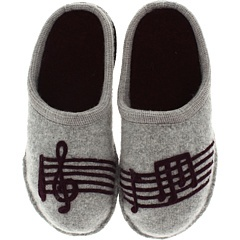 Haflinger Beethoven Slippers. . .LOVE the music notes!