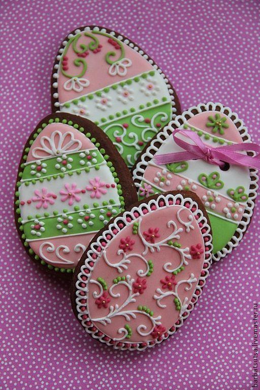 """Купить Пряник пасхальный. Набор """" Пасха.Нежность"""" - розовый, зеленый, пряник, пряники, Пасха"""