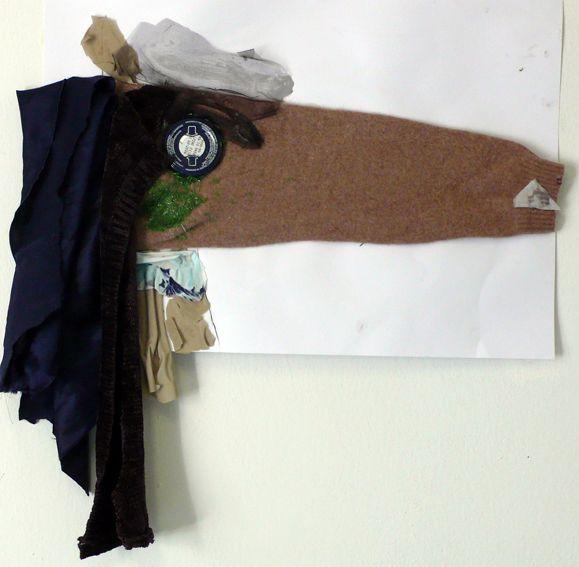 Cavallo (collage con tessuti e scampoli)