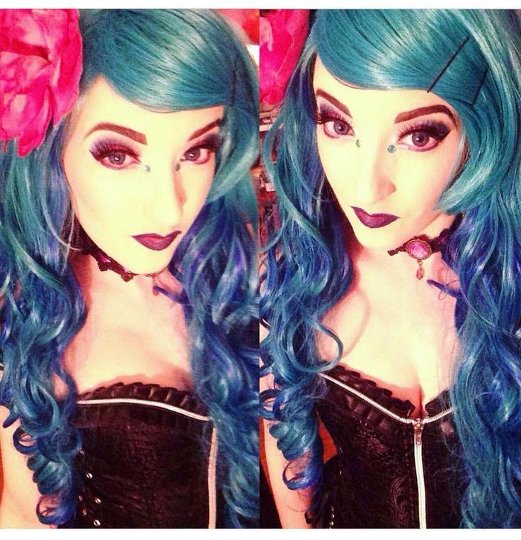 @faerie_diva629 Looooooks gorgeous in Lush style: Aqua  #lushwigs Available now from Lushwigs.com #lushwigsaqua #wig #mermaidhair