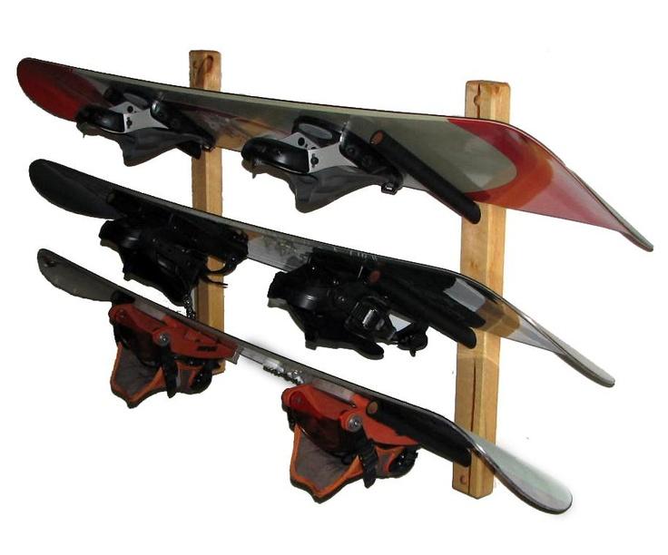 snowboard rack diy garage plan clever storage longboarden. Black Bedroom Furniture Sets. Home Design Ideas
