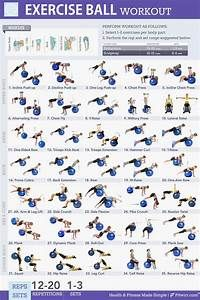 exercise ball printable workouts  yahoo image search