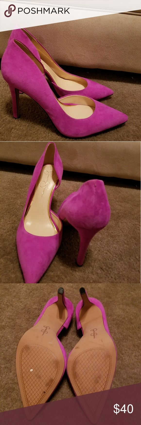 Purple Jessica Simpson pumps Suade pointy toe 4 inch pumps. Jessica Simpson Shoes Heels