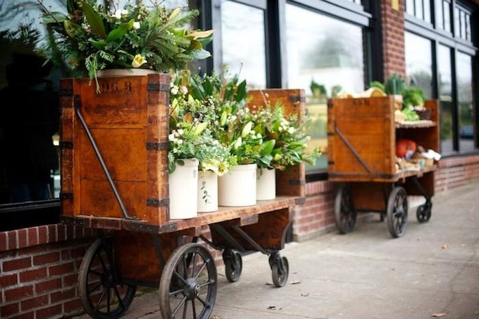 this cart would make a really cool mini bar, indoor plant display or cat bed  The Woodsman Tavern and Market in Portland, OR : Remodelista