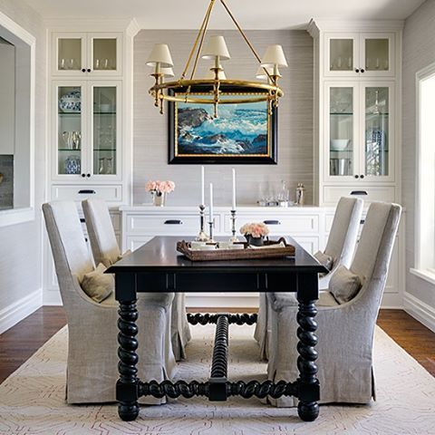 A casual dining room for a lovely los angeles area client for Casual dining room ideas pinterest