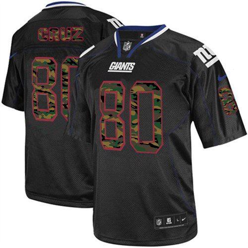 Nike Elite Mens New York Giants #80 Victor Cruz Camo Fashion Black NFL Jersey  $129.99