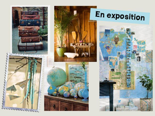 mariage voyage d coration salle d co voyage wedding. Black Bedroom Furniture Sets. Home Design Ideas