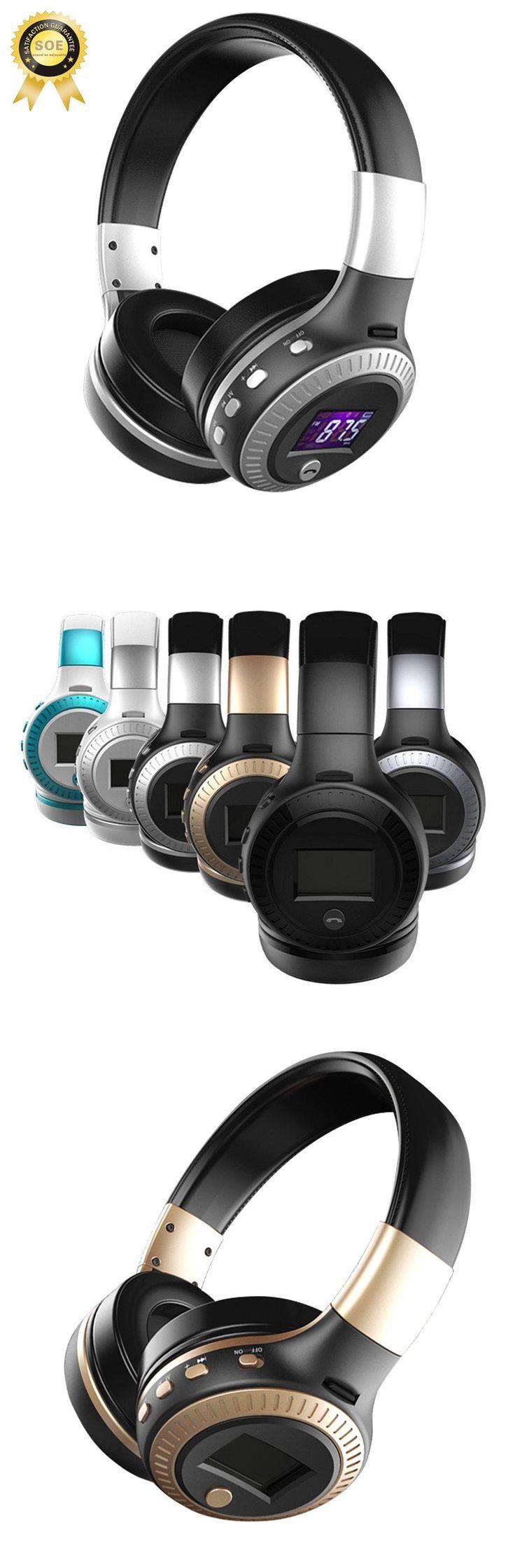 LCD display headphones bluetooth cordless headphones for computer bluetooth headphone with microphone hifi airpods stereo music