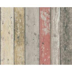 New England Wood Panel Wallpaper 895127