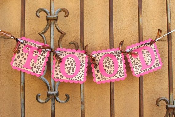 FOOD BANNER  Hot Pink & Leopard Party Banner by JustBeccuz on Etsy, $9.95