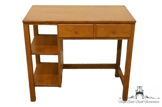 Ethan Allen Heirloom Nutmeg Maple Crp 34 Student Desk Student