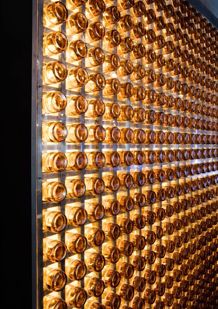 bottle wall | Dongli Brewery | restaurant design | bar design