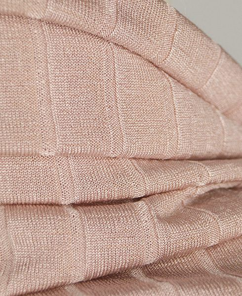 Pink ribbed jersey fabric