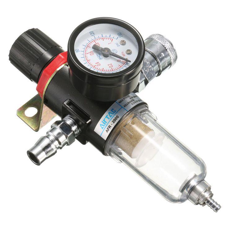 "AFR-2000 1/4"" Air Compressor Filter Water Separator Trap Tools Kit With Regulator Gauge Sale - Banggood.com"