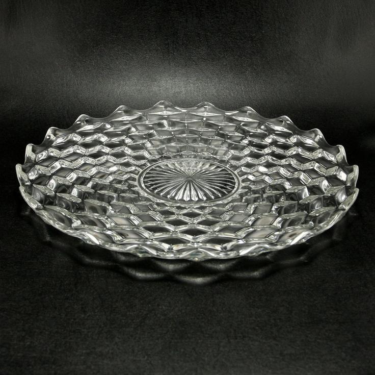 Fostoria American Glass Cabaret Platter Vtg.