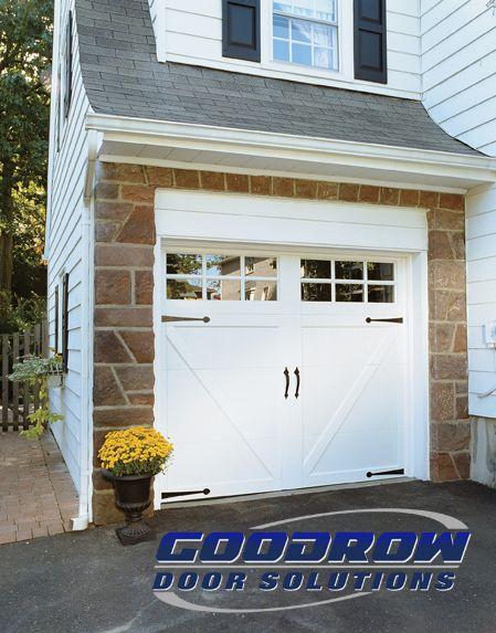 Overlay Garage Door With Inverted V Design Square Windows. Contact Goodrow  Door Solutions In Rockland