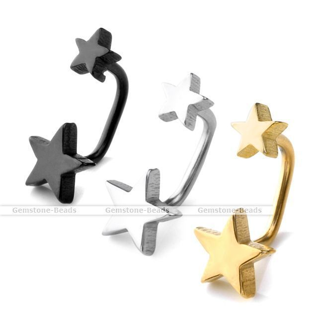Pair Punk Cool Star Stainless Steel Men's Ear Stud Barbell Earring Fashion NEW #Stud  http://www.ebay.com/itm/Pair-Punk-Cool-Star-Stainless-Steel-Mens-Ear-Stud-Barbell-Earring-Fashion-NEW-/231244601049?pt=LH_DefaultDomain_0&var=&hash=item7b82680f9a