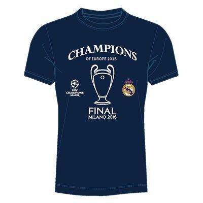Real Madrid UEFA Champions League 2016 Winners T-Shirt - Navy - Kids: UEFA Champions League 2016 Winners'… #RealMadridShop #RealMadridStore