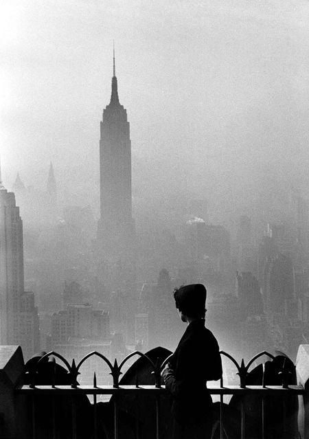 Niebla en Nueva York desde el Top of de Rock creo.