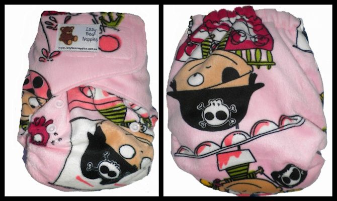 Issy Bears Cuddlebear Velcro - Pink Pirates