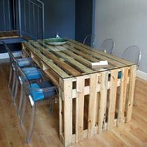 STÓŁ Z PALET do Jadalni salonu, meble - stoły i stoliki