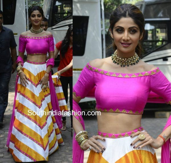 Shilpa Shetty Kundra on the sets of Super Dancer show photo