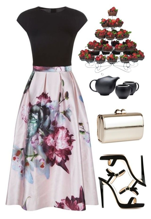 """Untitled #754"" by bearnadette on Polyvore featuring Ted Baker and Jimmy Choo"