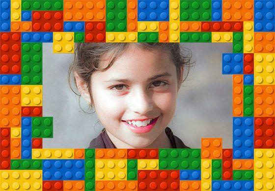 Marcos online con Piezas Lego. #lego #infantiles #marcosonline #onlineframes