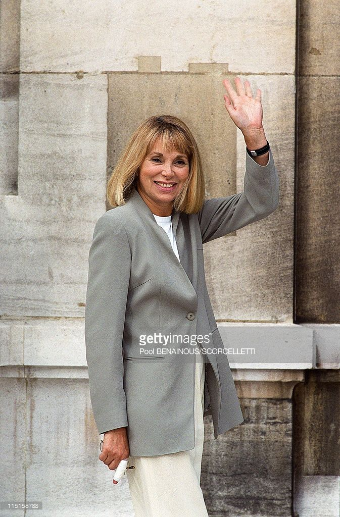 Wedding of Michel Sardou with Anne-Marie Perier in Paris, France on October 11, 1999 - Mireille Darc.