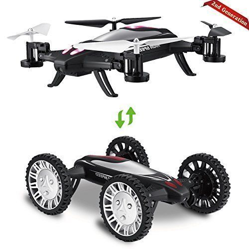 RC Car Flying Drone with Car Mode Fly Mode Headless Mode 3D Flip Kids Gift NEW #FLYINGCARDRONE